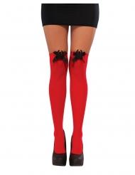 Røde strømper Spidergirl™ kvinde