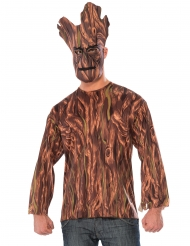 Guardians of the Galaxy™ Groot tshirt og maske voksen