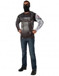 Captain America Civil War™ Winter Soldier Tshirt og maske voksen