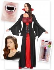 Vampyr kostume til kvinder - Halloween pakke
