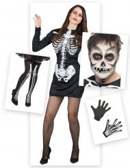 Skelet Kostume Kit Halloween til kvinder