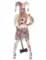 Blodigt Harlekin kostume til kvinder