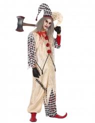 Blodigt Harlekin kostume til mænd