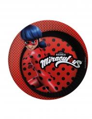 Røde Ladybug™ paptallerkener med prikker - 23 cm