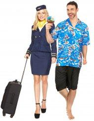 parkostume stewardesse og turist