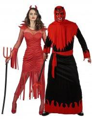 Kostume Par Djævel til voksne
