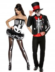 Halloween skelet parkostume