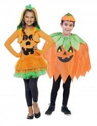 Græskar Halloween Kostume til børnepar
