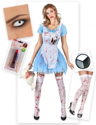 Zombie Kostume Kit Alice Halloween