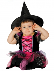 lyserød heks kostume baby