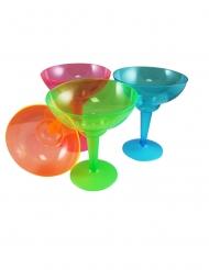 12 stk Multifarvet Margatritaglas - 355 ml