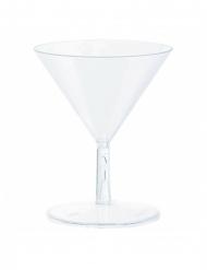 20 Mini Martini glas i plastik 59 ml