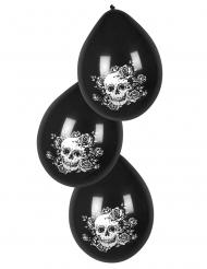 Balloner med dødningehoveder - 6 stk