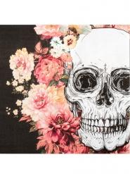 Skelet med blomster - Papirsservietter