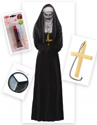 Zombie nonnekostume til kvinder - Halloween pakke