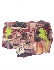 Halloween skeletdekoration 38x27 cm