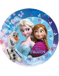 Blå kagedekoration med Olaf, Elsa og Anna - Frost™ 18.5 cm