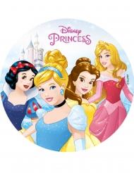 Spiselig kagedekoration disk Disney Princesses™ 18,5 cm