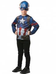 Captain America™ Tshirt med maske barn