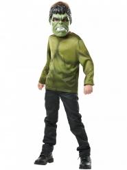 Tshirt med Hulk™ maske barn