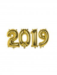 2019 pakke i guld - Aluminiumsballoner 35 cm