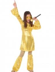 Disko kostume guld pige