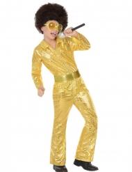 Disko guld kostume dreng