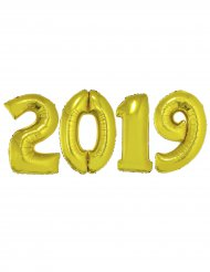 2019 pakke - Kæmpe aluminiumsballoner i guld