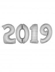 2019 pakke - Kæmpe aluminiumsballoner i sølv