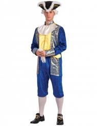 Marquis kostume guld og blå til mænd