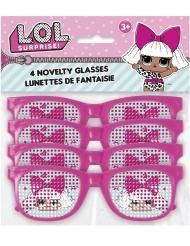 4 par briller lsyerød prikket LOL Suprise™