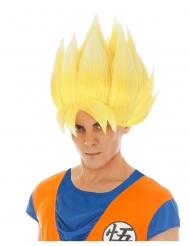 Gul Goku Saiyan paryk til voksne - Dragon Ball Z™