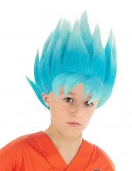 Blå Goku Saiyan paryk til børn - Dragon Ball Z™