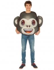 Emoji™ kostume til voksne - Abe ansigt