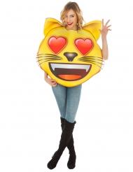 Emoji™ kostume til voksne - Kat med hjerteøjne