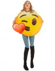 Emoji™ kostume til voksne - Hjertekys