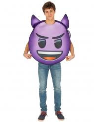 Emoji™ kostume til voksne - Lilla djævel