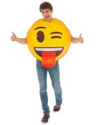 Emoji™ kostume til voksne - Blink og tunge