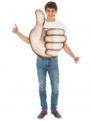 Emoji™ kostume til voksne - Thumbs up