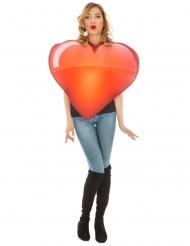 Emoji™ kostume til voksne - Rødt hjerte