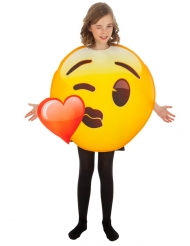Hjerte kys smiley kostume til børn - Emoji™