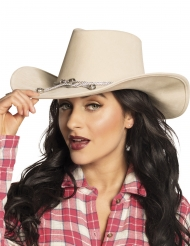 Cowboy hat beige voksen