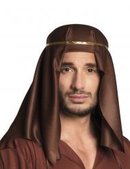 Hovedbeklædning arabisk emir brun voksen