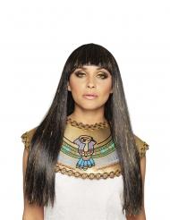 Dronning af nilen lang sort og guld paryk kvinde