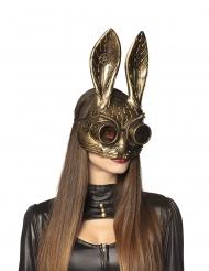 Steampunk maske gylden voksen Steampunk