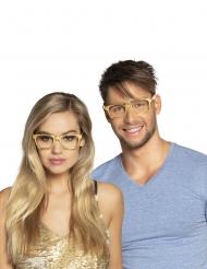 3 briller guld voksen