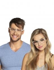 3 briller sølv voksen