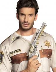 Sherif revolver sølv