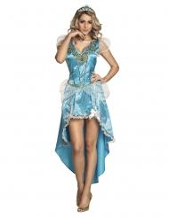 Fortryllet prinsesse kostume blå kvinde