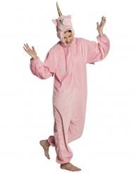 kostume enhjørning lyserød teenager